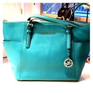 Michael Kors Turquoise Blue Tote Bag
